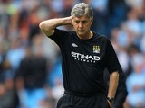 Manchester City's Assistant Manger Brian Kidd during the game against Norwich City on May 19, 2013