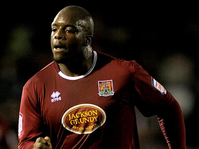 Northampton Town's Adebayo Akinfenwa in action on November 20, 2012