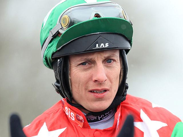 Jockey Eddie Ahern on March 23, 2013