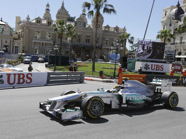 Mercedes driver Lewis Hamilton during a practice session for the Monaco Grand Prix on May 25, 2013