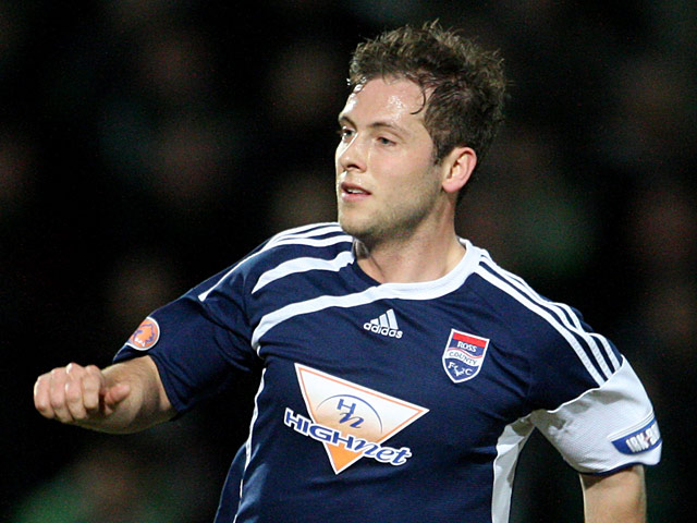 Ross County's Paul Lawson in action on March 23, 2010