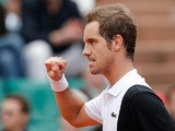 Richard Gasquet celebrates after defeating Nikolay Davydenko during their third round match of the French Open on June 1, 2013