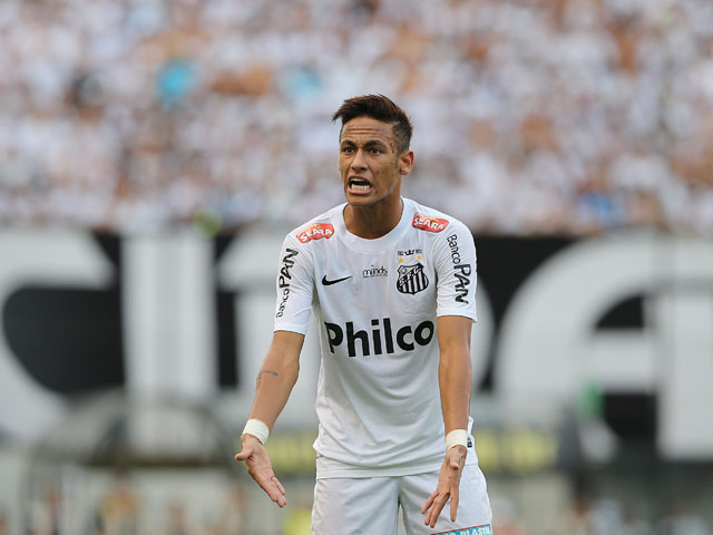 Santos' Neymar during the match against Corinthians on May 19, 2013