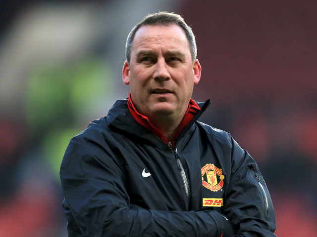 Manchester United first team coach Rene Meulensteen prior to the match against Manchester City on April 8, 2013