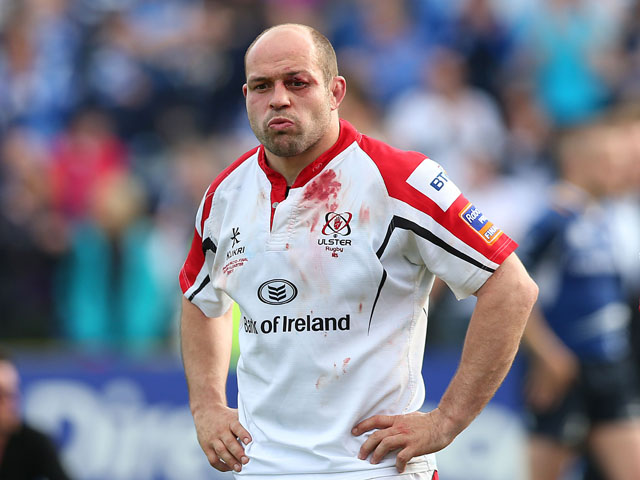 Ulster's Rory Best stands dejected during the RaboDirect PRO12 Final on May 25, 2013