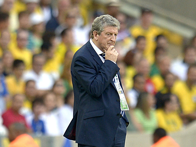 England manager Roy Hodgson on the touchline during his team's friendly match against Brazil on June 2, 2013