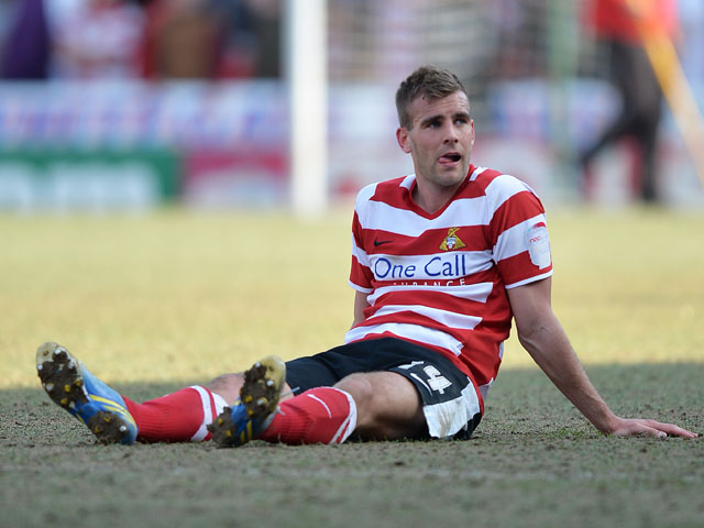 Doncaster Rovers' Tommy Spurr at the end of the match against Notts County on April 20, 2013