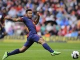 Thiago stretches for possession against Athletic Bilbao.