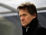 Besiktas head coach Bernd Schuster on the touchline on February 24, 2011