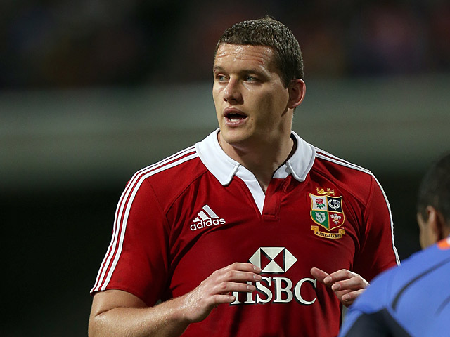 British and Irish Lions' Ian Evans in action on June 5, 2013