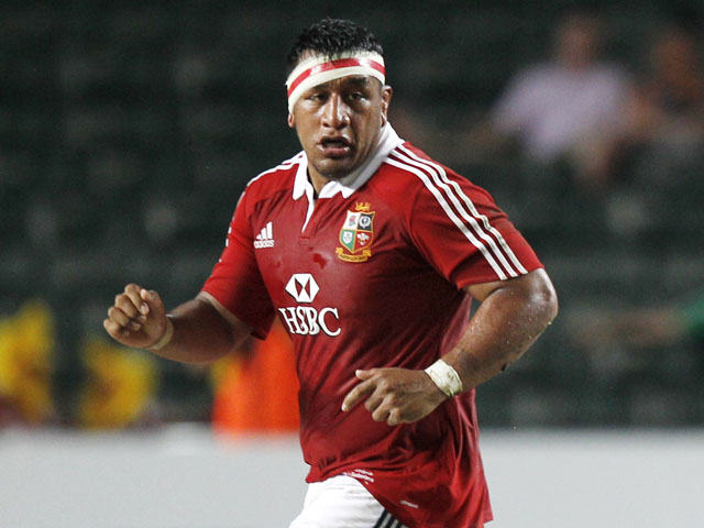 Mako Vunipola of the British and Irish Lions runs during a XV-a-side rugby match against the Barbarians on June 1, 2013