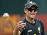 Australia's David Hussey warms up before a game with India on September 29, 2012
