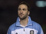Argentina's Gonzalo Higuain before a game with Colombia on June 8, 2013