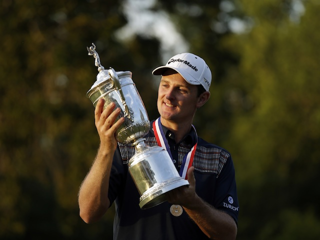 Justin Rose with the US Open trophy on June 16, 2013