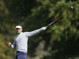 Joost Luiten of the Netherlands reacts on the 18th hole during round three of the Irish Open Golf Championship on June 29, 2013