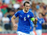 Italy's Luca Caldirola in action during the European Under 21 Championship final against Spain on June 18, 2013