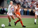 Marco van Basten in action during the 1988 European Championships final.