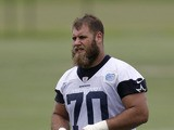 Dallas Cowboys first-round draft pick Travis Frederick walks off the field at the NFL football team's training facility on May 28, 2013