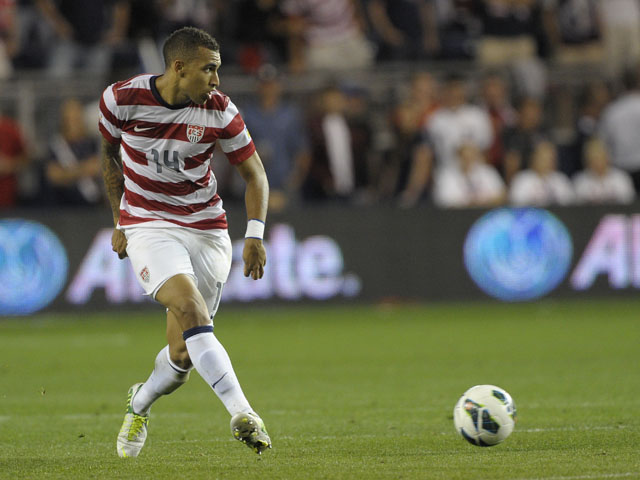 United States midfielder Danny Williams during the World Cup qualifying match against Guatemala on October 16, 2012