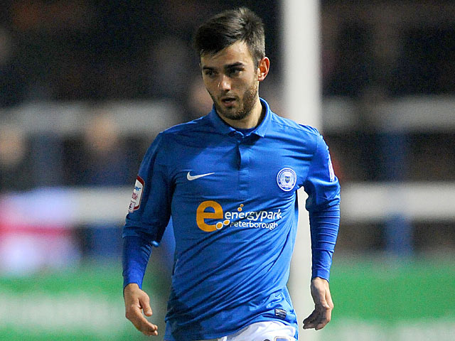 Peterborough United's Jack Payne in action on March 5, 2013