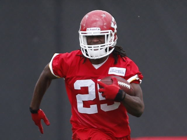 Chiefs' Jamaal Charles during team practice on May 22, 2013