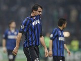 Inter Milan Serbian midfielder Dejan Stankovic walks off the field at the end of a second leg Champions League round of 16 second leg soccer match against Marseille on March 14, 2012