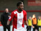 Crawley Town's Mustapha Dumbuya in action on March 29, 2013