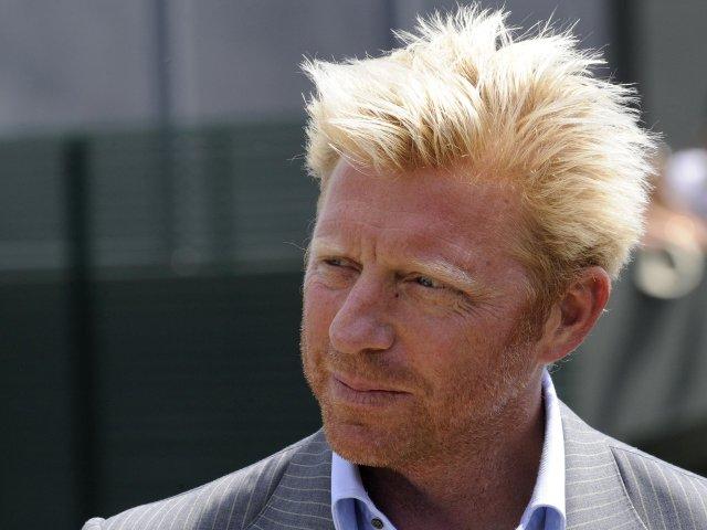Boris Becker at Wimbledon.