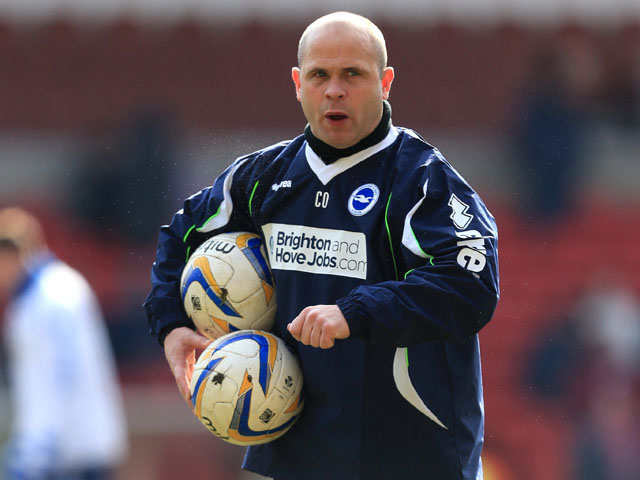 Brighton & Hove Albion first team coach Charlie Oatway on March 30, 2013