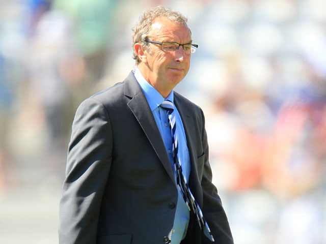 Sky Sports presenter David Lloyd during the ODI between England and the West Indies on May 25, 2012