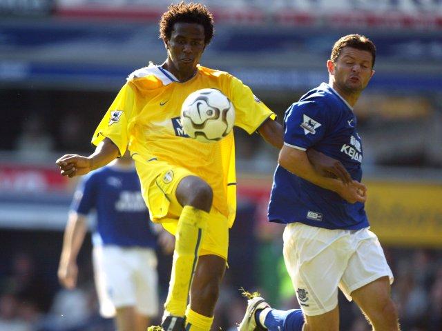 Roque Junior in action for Leeds United.