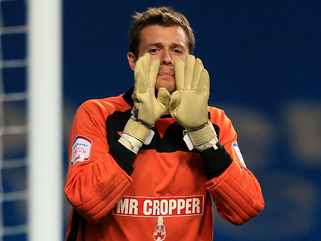 Burton Albion goalkeeper Ross Atkins during the match against Coventry City on September 4, 2012