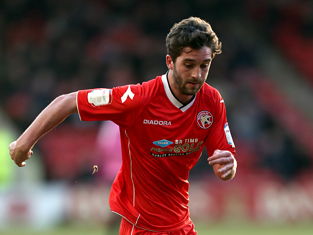 Walsall striker Will Grigg in action on February 16, 2013