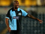 Wycombe Wanderers' Leon Johnson in action on October 2, 2012
