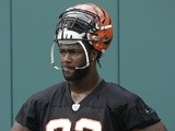 Bengals' DE Michael Johnson at practice on June 13, 2013
