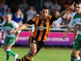 Hull City's Robert Koren during a pre-season friendly against North Ferriby on July 15, 2013