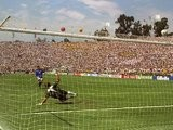 Roberto Baggio skies his penalty during the 1994 World Cup final.
