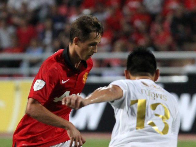Adnan Januzaj in action for Manchester United during a pre-season friendly.