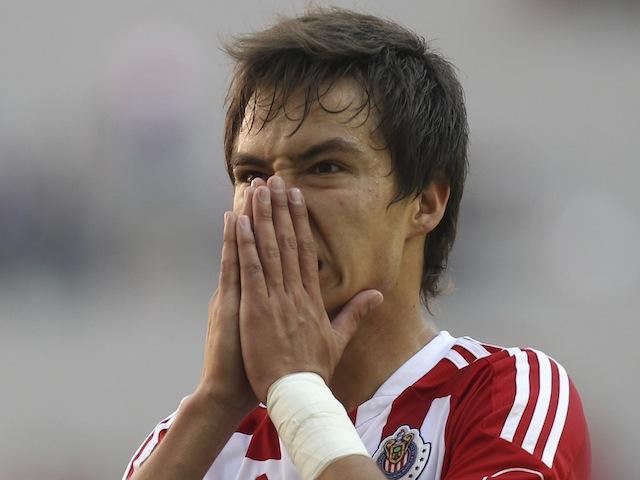 Chivas' Erick Torres in action on April 11, 2012