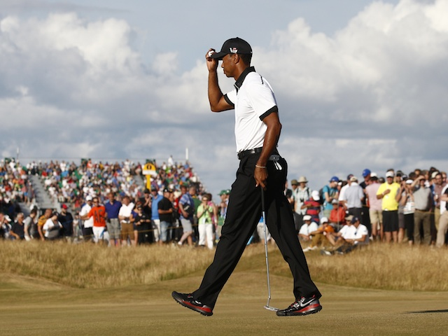 Tiger Woods at the British Open on July 18, 2013