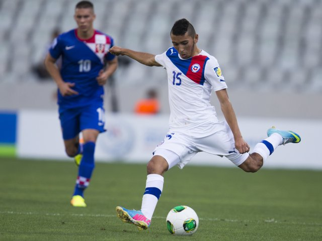Cristian Cuevas strikes for goal at the Under-20 World Cup.