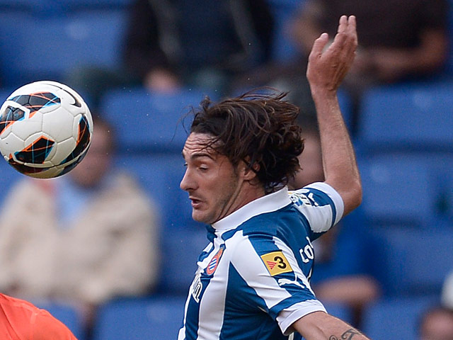 Espanyol's Diego Colotto in action on May 20, 2013