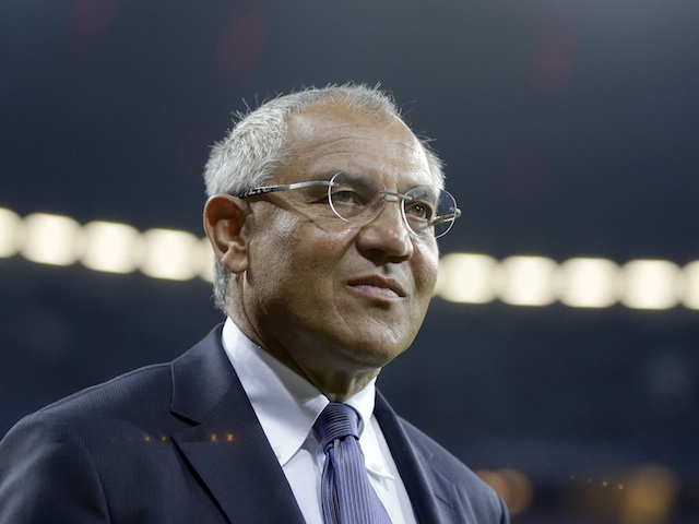 Manager Felix Magath on the touchline on September 25, 2012