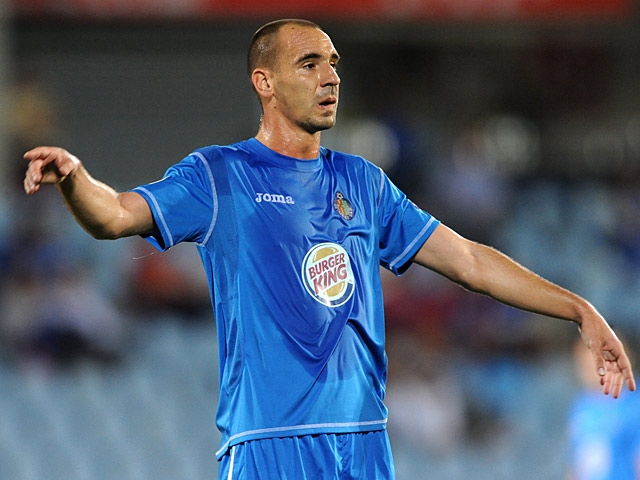 Getafe's Fernandez Borja in action on September 16, 2010
