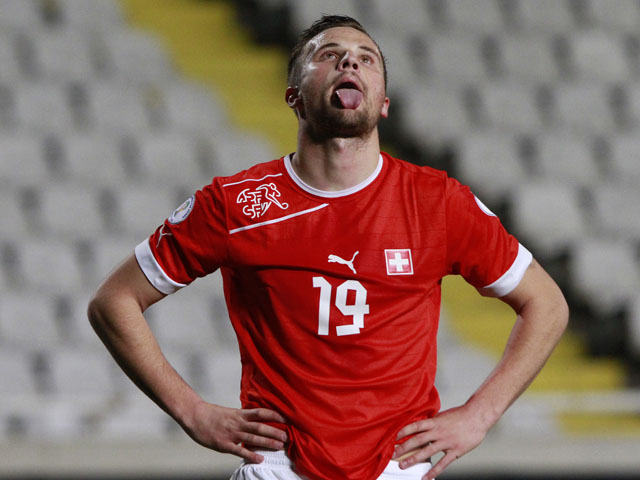 Switzerland 's Haris Seferovic during the World Cup qualifier against Cyprus on March 23, 2013
