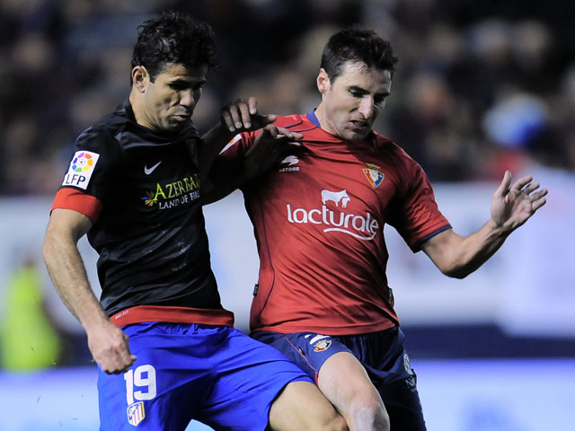 Osasuna's Marc Bertran during the La Liga match against Atletico Madrid on March 17, 2013
