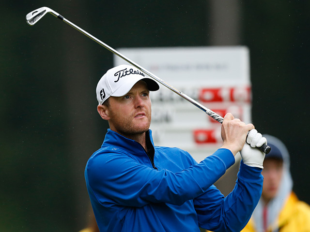 Michael Hoey in action during the final round of the Russian Open on July 28, 2013