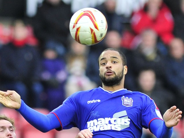 Ipswich Town striker David McGoldrick in action on January 26, 2013