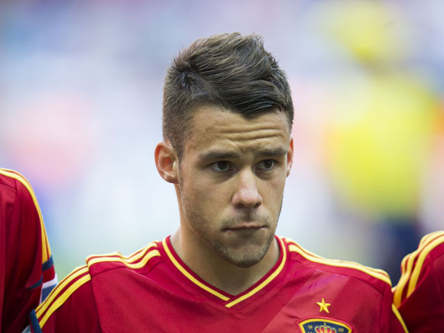Spain's Juan Bernat poses before the Under-20 World Cup match against Mexico on July 2, 2013