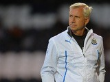 Newcastle manager Alan Pardew during a friendly match against St Mirren on July 30, 2013